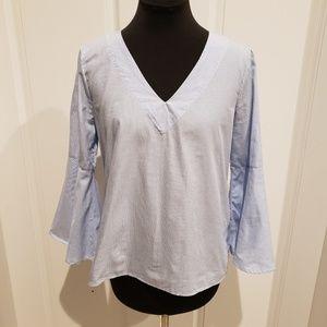 Zara Striped Bell Sleeves Top